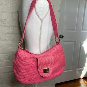 Talbots Pink Woven Shoulder Bag